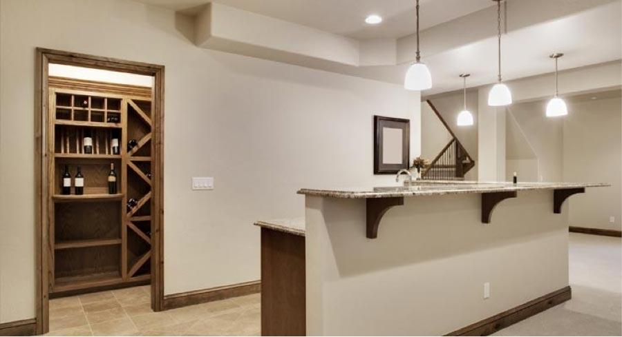 Dégustation vinicole au sous-sol